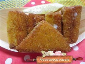 Tramezzini di pan carrè fritti