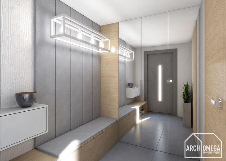 dąb i beton - tychy - Myhome - Salon Nowoczesny/Modern