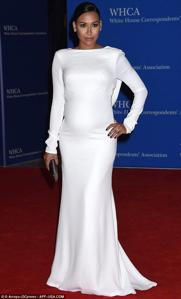 White hot! Naya Rivera looked the epitome of maternity chic at the White House Corresponde...