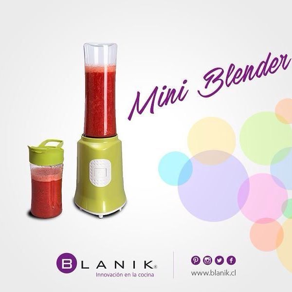 Prepara ricos batidos y smoothies con tus ingredientes favoritos con Mini Blender de #Blanik.  http://ow.ly/YaQmX