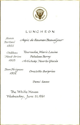 34 best Jackie Kennedy's White House Menus images on ...