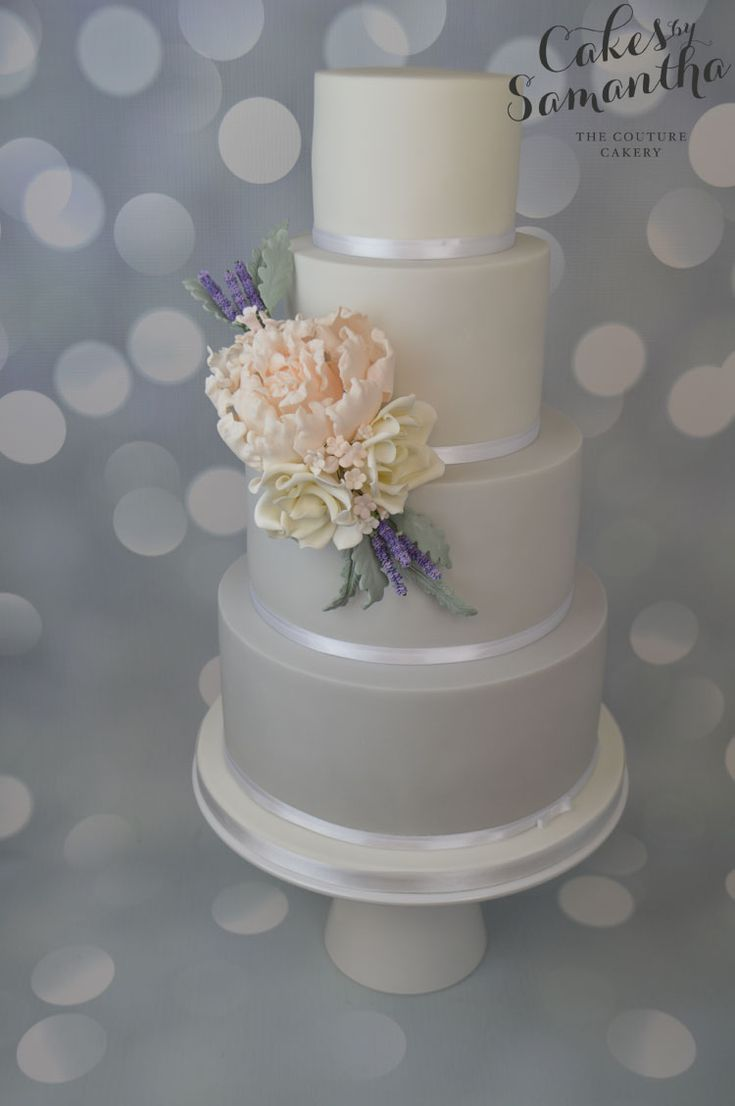 gray wedding cake designs kate s grey ombre wedding cake with handmade sugar flowers 14904