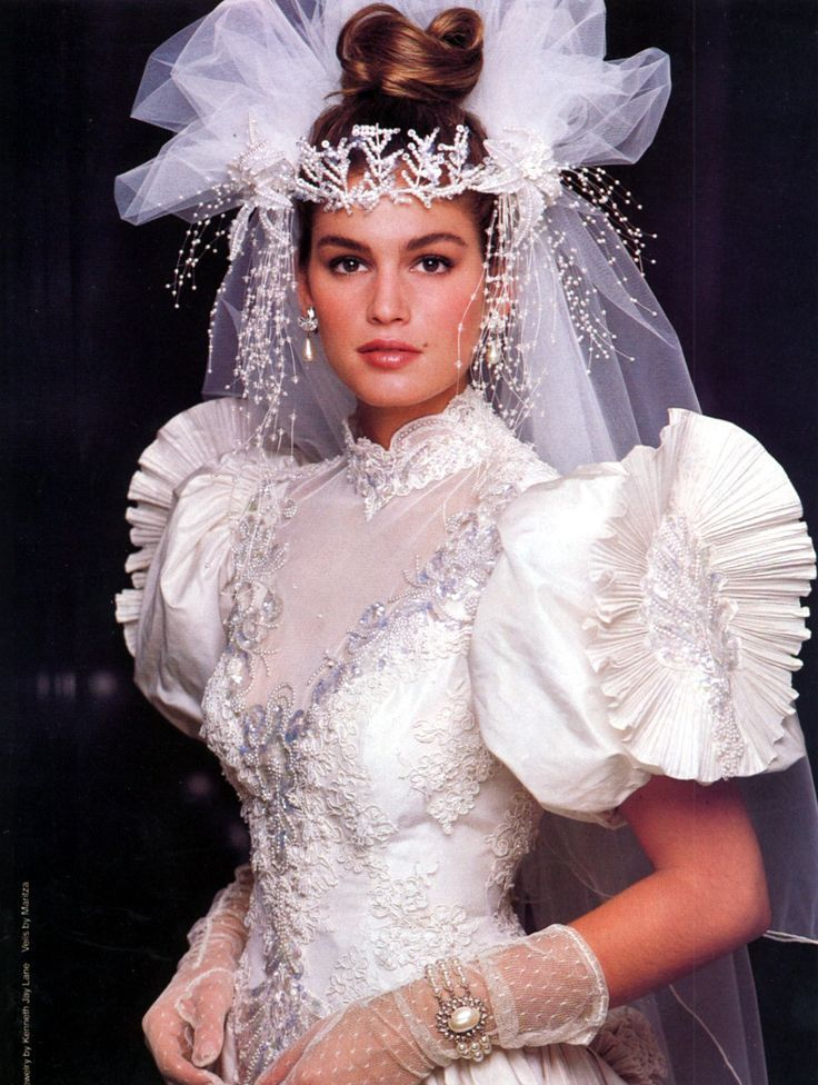 Vintage Brides (Cindy Crawford in 1980's bridal)