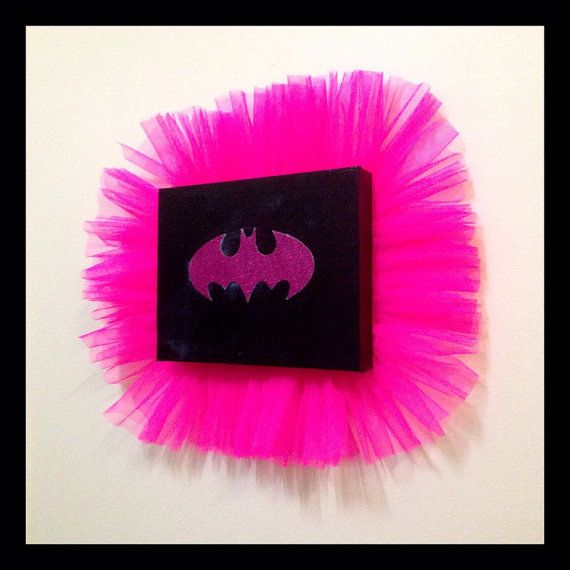 LITTLE SUPERHERO COLLECTION. Batman for girls, childrens bedroom decor, little superhero collection. by ICanvasUshop on Etsy