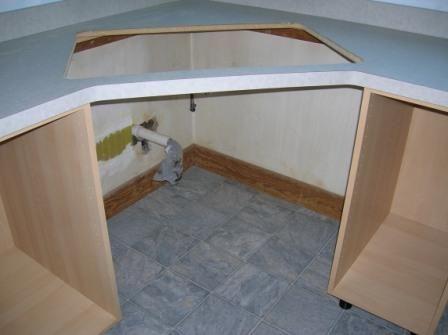 Corner Kitchen Sink Cabinet