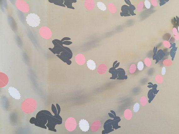 Bunny birthday Garland / Bunnt baby shower by anyoccasionbanners