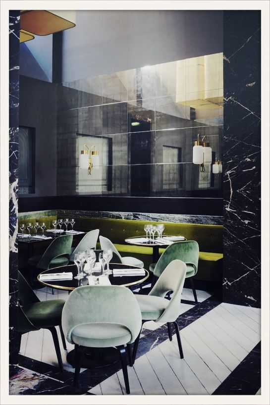 Monsieur Bleu Palais de Tokyo /the neo-Dandy, Art Deco-inspired space was custom created by architect Joseph Dirand.