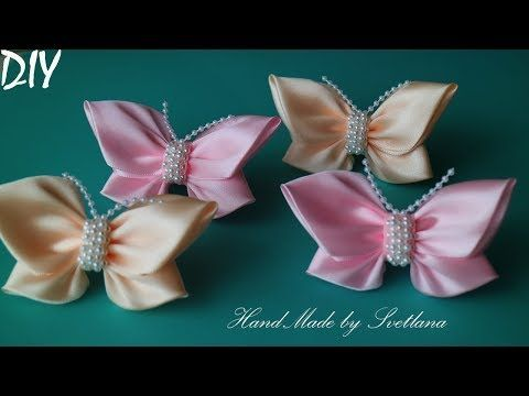 Бант из репсовой ленты МК/ Bow grosgrain ribbon DIY/ PAP Arco fita do grosgrain Tutorial - YouTube