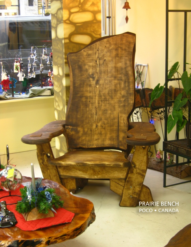 Story Teller's Chair made by Prairie Bench in Port Coquitlam, BC Canada