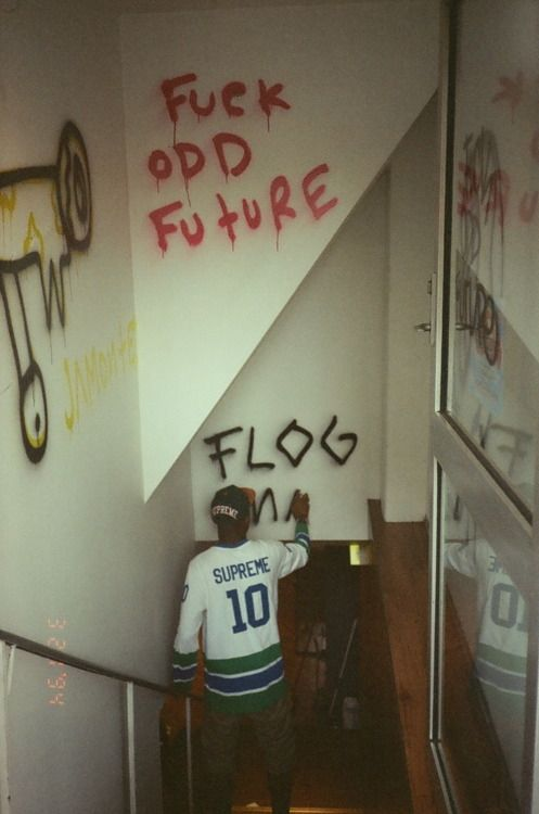 Odd Future Graffiti. Flog Gnaw. Tyler as usual in Supreme