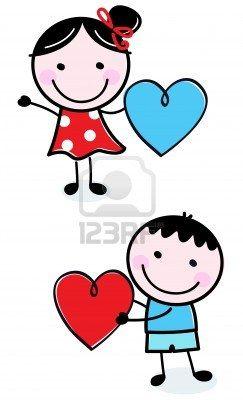 """Illustration of happy Kids with Hearts."" Photographer: Jana Guothova / #Lordalea #123rf #Illustration"