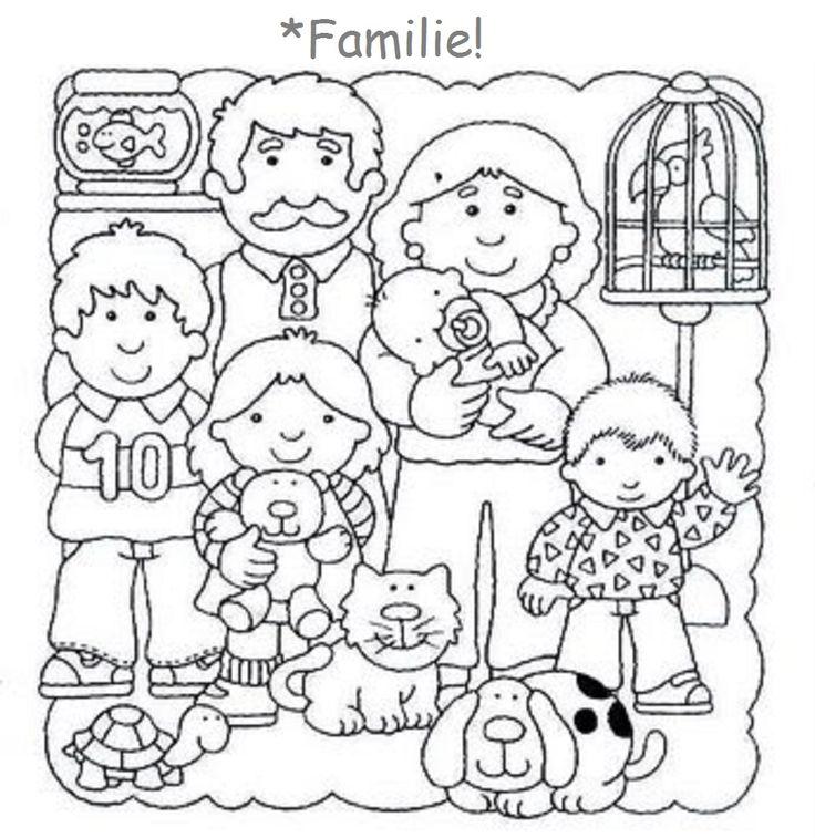 34 beste afbeeldingen familie kleurplaten