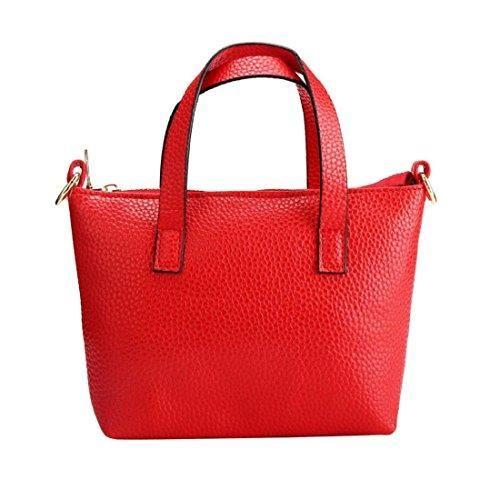 Oferta: 7.69€. Comprar Ofertas de Tongshi Mujeres Mini hombro de cuero de la bolsa de mensajero de la taleguilla del bolso del totalizador (Rojo) barato. ¡Mira las ofertas!