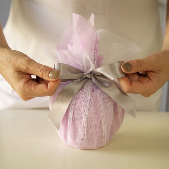 Ideas For Wrapping Indian Wedding Gifts : Wrapping idea using net fabricdefinitely doing this at Christmas ...