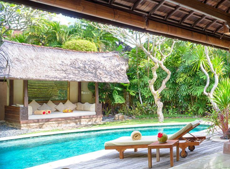 We wouldn't mind waking up to this view every morning… ☀️🌴🌺💖  www.villakubu.com  #villakubu #seminyak #villa4 #luxury #balivilla #travel #tropicalparadise #sanctuary #wanderlust #love #globetrotter