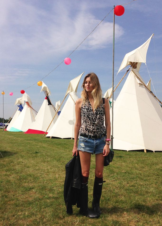 Hunter Boots - Camille Over The Rainbow at Secret Garden Party