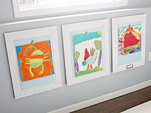 12 nifty new ways to display kids artwork