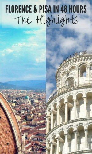 Heading to Italy for a weekend? Let us help you plan the perfect two city weekend break in Florence and Pisa with our list of Top Things To Do!