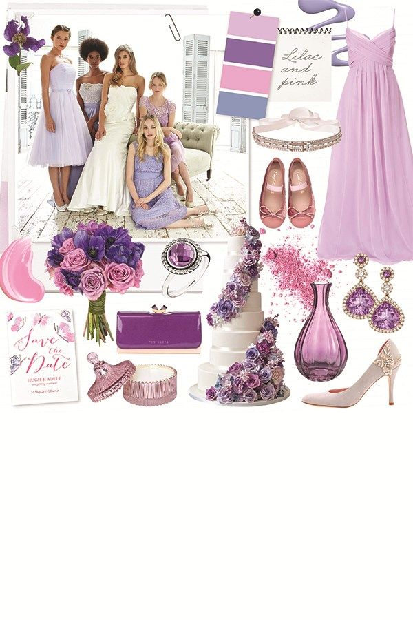 Fill your wedding reception with lilac and lavender hues for a romantic fairytale look