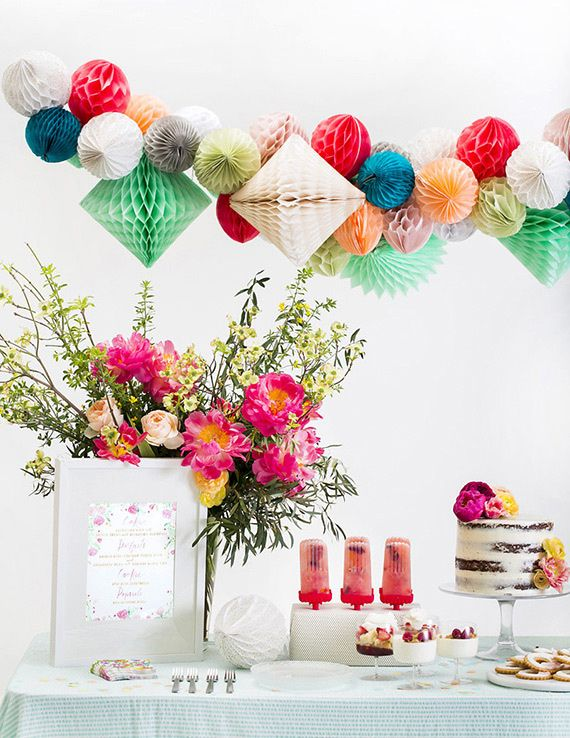 Spring bridal shower inspiration   100 Layer Cake for Crate and Barrel   Photo by Scott Clark Photo