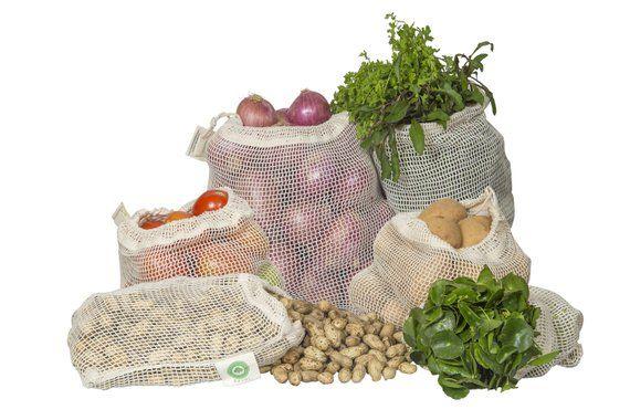 Organic Cotton Mesh Produce Bags Produce Bags Reusable Produce Bags Vegetable Bag