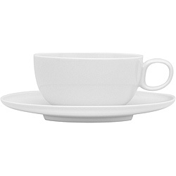 Red Vanilla Everytime White Tea Cups & Saucers (Set of 6)