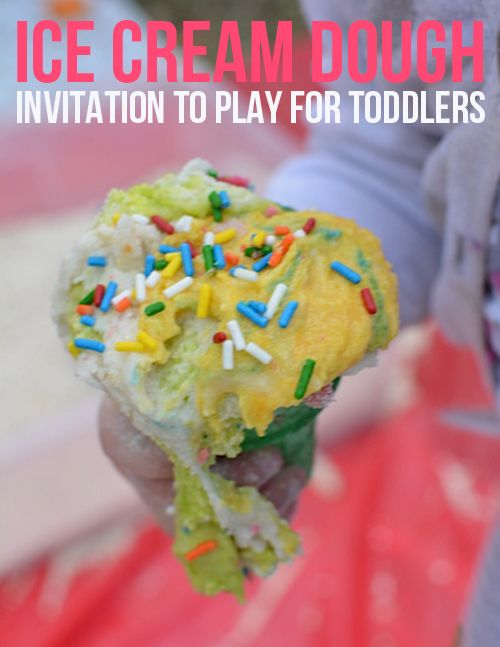 Ice Cream Dough - Invitation to Play for Toddlers