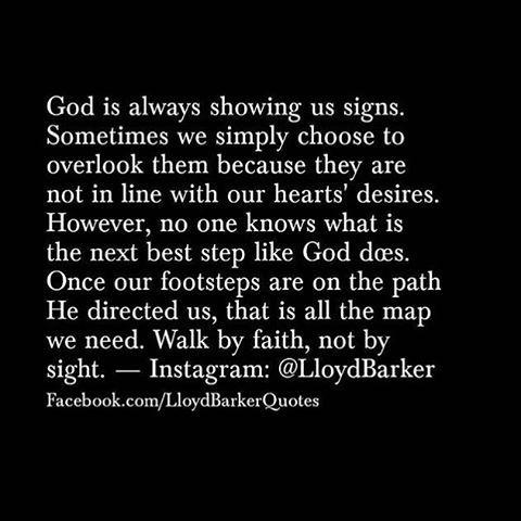 Walk by faith ... Not by sight