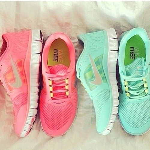 Nike shoes.  Love the mint.
