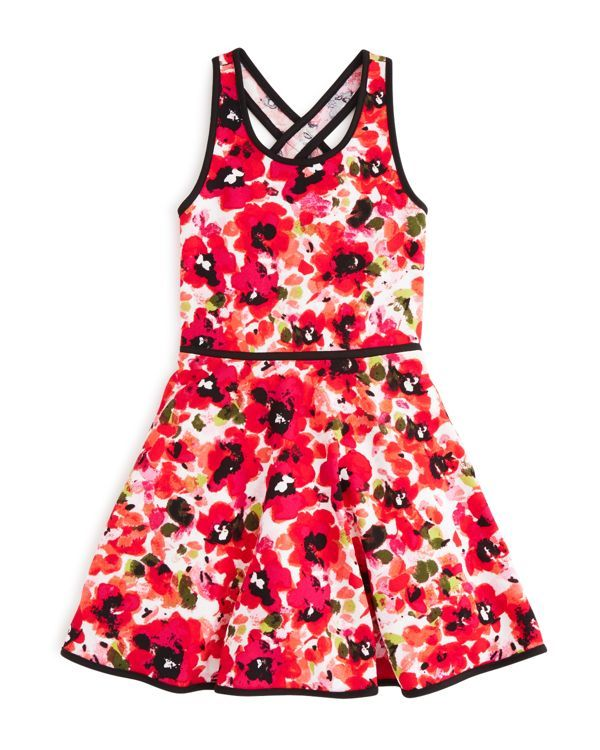 Sally Miller Girls' Floral Print Knit Dress - Sizes S-xl