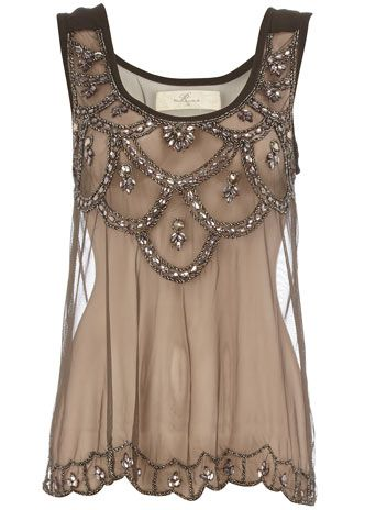 beaded and sheer
