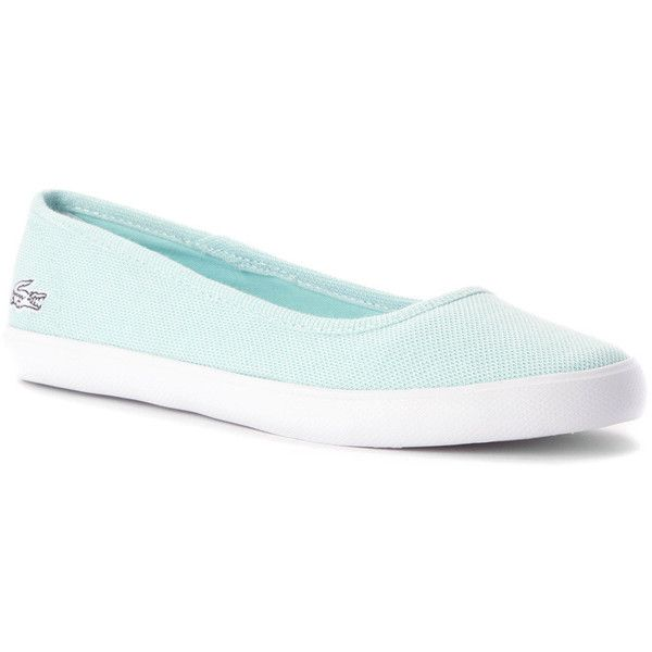 Lacoste Women's Marthe CRM Sneaker Flats (410 DKK) ❤ liked on Polyvore featuring shoes, flats, traction shoes, lacoste flats, lacoste shoes, travel shoes and grip shoes