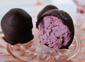 Fragrant Vanilla Cake: Raw Raspberry Rose Cream Truffles
