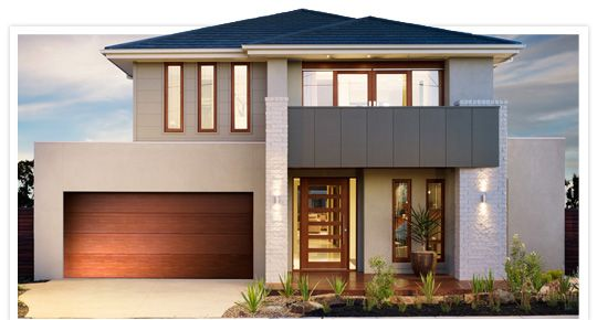 Hudson new home design duplex facade ideas pinterest for Home designs metricon