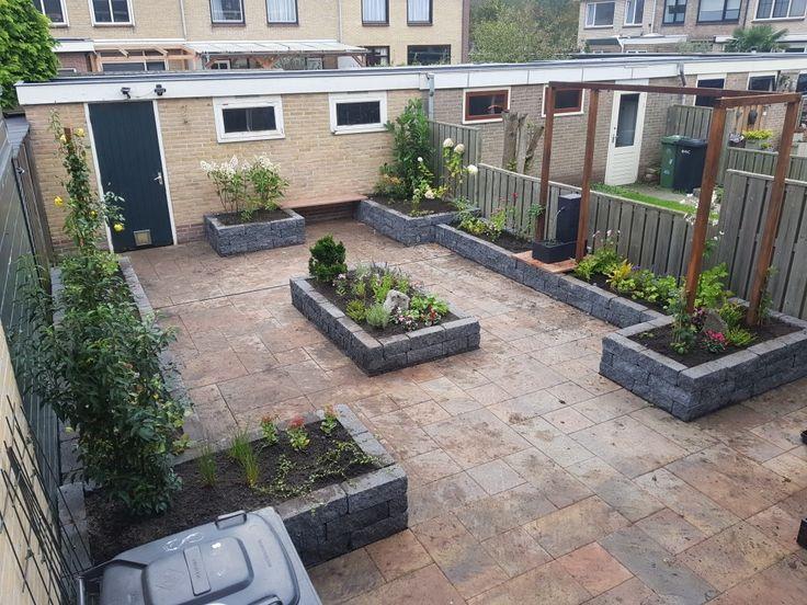 25 beste idee n over patio blokken op pinterest buiten zitbankje vuurplaats zitplaatsen en - Ideeen kleuren lounge ...