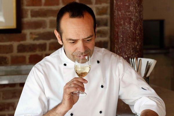 Jose Pizarro with sherry, at Jose