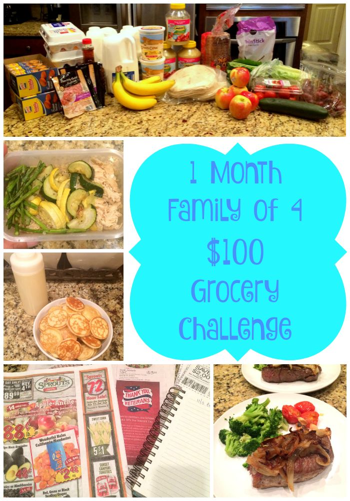 GROCERY CHALLENGE -- Spend only $100 for the entire month for a family of 4!  What we bought, what we ate, and how much money we have left!  How to save tons of money at the grocery store.  #budget #grocerybudget $100 Grocery Challenge -- WEEK 1