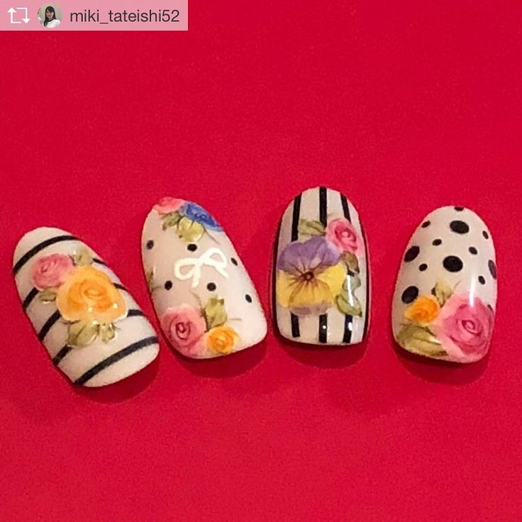 "1,558 Likes, 9 Comments - 田辺 さおり (@blcnailsalon_saoritanabe) on Instagram: ""new♪刺繍ペイント❤︎ #刺繍ネイル…"""