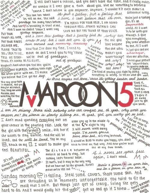 Maroon 5... I love this. this is fantastic.