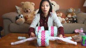 Tricycle Diaper Cake - How to make, via YouTube.