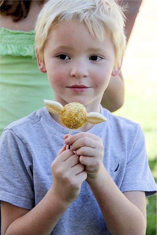 Harry Potter Party: Golden Snitch Cake Pops
