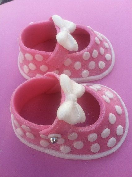 fondant shoes/fondant baby/ fondant baby girl/ by BabyForever