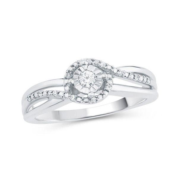 1 10 Ct T W Diamond Swirl Bypass Promise Ring In 10k White Gold In 2020 Promise Rings White Gold Diamond Promise Rings