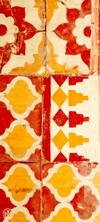 Moroccan Tile. Photograph by Noa Griffel.: Bohemian Prints, Ceramics Design, Warm Color, Floors Paintings, Tile Patterns, Noa Griffel, Kitchens Tile, Yellow Tile, Moroccan Tile