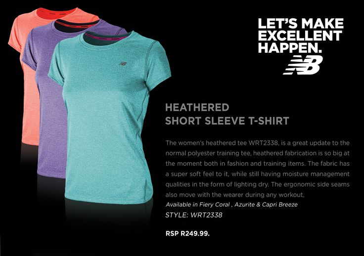 Ladies Heathered Tee, this look and feel is great ladiess. Take a look!