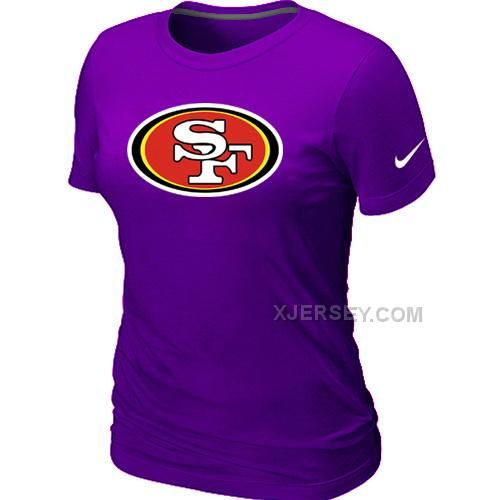 http://www.xjersey.com/san-francisco-49ers-purple-womens-logo-tshirt.html SAN FRANCISCO 49ERS PURPLE WOMEN'S LOGO T-SHIRT Only $26.00 , Free Shipping!