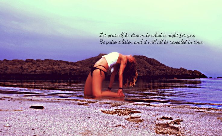 Let yourself be drawn to what is right for you. Be patient,listen and it will all be revealed in time. #MyYoga #BeachYoga