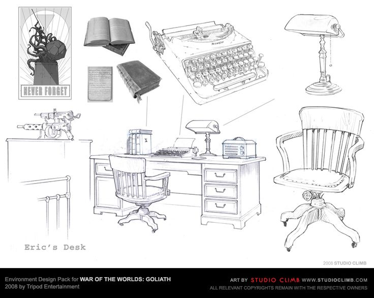 Environment Design Pack for War Of The Worlds: Goliath --- Eric's desk
