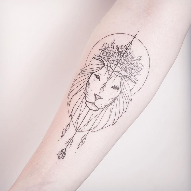 Image result for small lion tattoos leg