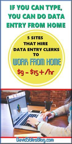 5 COMPANIES TO CHOOSE FROM PLUS A BONUS COMPANY. DATA ENTRY CLERKS (TRANSCRIPTIONIST) NEEDED TO WORK FROM HOME. From: DavidStilesBlog.com